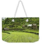 Rice Fields In Bali Indonesia Weekender Tote Bag