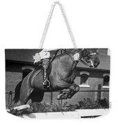 Rider Jumps At Horse Show Weekender Tote Bag