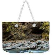 River Flowing Through Rocks, Zion Weekender Tote Bag