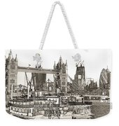 River Thames Sketch Weekender Tote Bag