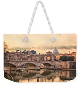 River Tiber In Rome Weekender Tote Bag