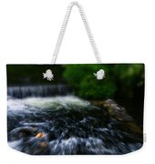 River Wye Waterfall - In Bakewell Peak District - England Weekender Tote Bag