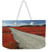 Road Through Autumn Blueberry Maine Weekender Tote Bag