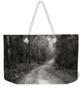 Road Way In Deep Forest Weekender Tote Bag