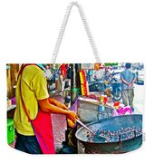 Roasting Chestnuts In China Town In Bangkok-thailand  Weekender Tote Bag