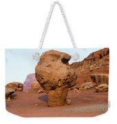 Rock Formations In A Desert, Vermilion Weekender Tote Bag