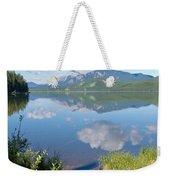 Rock Lake Alberta Canada And Willmore Wilderness Weekender Tote Bag