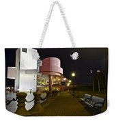 Rock N Roll Hall Of Fame Weekender Tote Bag by Frozen in Time Fine Art Photography