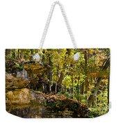 Rock Shelf And Forest Weekender Tote Bag