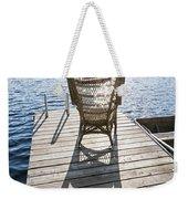 Rocking Chair On Dock Weekender Tote Bag