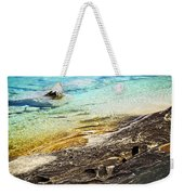 Rocks And Clear Water Abstract Weekender Tote Bag