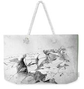 Rocks At Narragansett Weekender Tote Bag