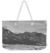 Rocky Mountains Flatirons And Longs Peak Panorama Boulder Weekender Tote Bag
