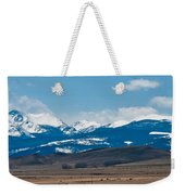 Rocky Mountains Road Weekender Tote Bag