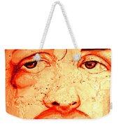 Rocky On Wall Weekender Tote Bag