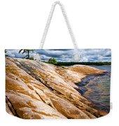 Rocky Shore Of Georgian Bay Weekender Tote Bag by Elena Elisseeva