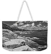Rocky Summer Seascape Acadia National Park Photograph Weekender Tote Bag