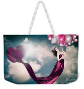 Romantic Girl In Love With Beauty And Fashion Weekender Tote Bag