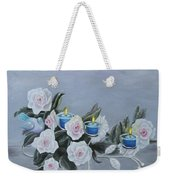 Roses And Candlelight Weekender Tote Bag