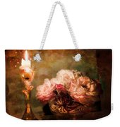 Roses By Candlelight Weekender Tote Bag