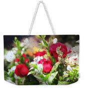 Roses In The Rain Weekender Tote Bag