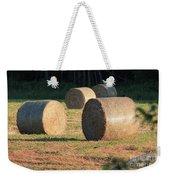 Round Hay Bales Weekender Tote Bag