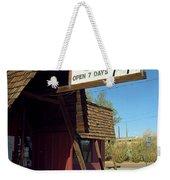 Route 66 - Bagdad Cafe Weekender Tote Bag by Frank Romeo
