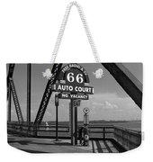 Route 66 - Chain Of Rocks Bridge And Gas Pump Weekender Tote Bag