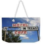 Route 66 - Glenrio Texas Weekender Tote Bag
