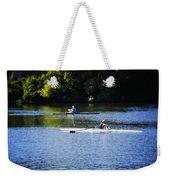 Rowing In Philadelphia Weekender Tote Bag by Bill Cannon