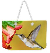 Ruby-throated Hummingbird Female Weekender Tote Bag