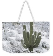 Saguaro Cactus After Rare Desert Weekender Tote Bag