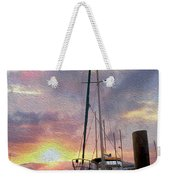 Sailboat Weekender Tote Bag by Jon Neidert