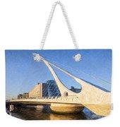 Samuel Beckett Bridge Dublin Weekender Tote Bag