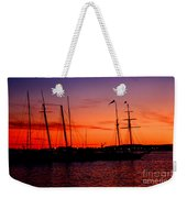San Diego Harbor Sunset Weekender Tote Bag