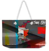 San Diego Map Watercolor Weekender Tote Bag