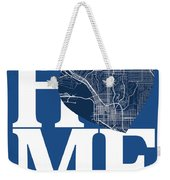 San Diego Street Map Home Heart - San Diego California Road Map  Weekender Tote Bag