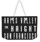 San Francisco City Subway Sign Weekender Tote Bag