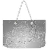 San Salvador Street Map - San Salvador El Salvador Road Map Art  Weekender Tote Bag