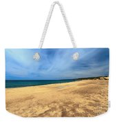 sandy beach in Piscinas Weekender Tote Bag