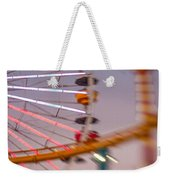 Santa Monica Pier Ferris Wheel And Roller Coaster At Dusk Weekender Tote Bag