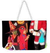 Santa Trick Or Treaters Halloween Party Casa Grande Arizona 2005 Weekender Tote Bag