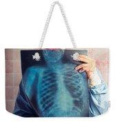 Scary Clown Peeking Behind X-ray. Funny Bones Weekender Tote Bag