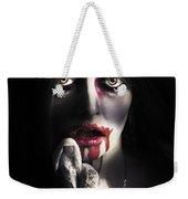 Scary Vampire Woman. Bloody Halloween Horror Weekender Tote Bag