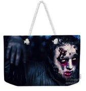 Scary Zombie Looking Gravely Ill. Monster Disease Weekender Tote Bag