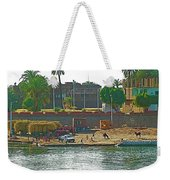 Scene Along Nile River Between Luxor And Qena-egypt  Weekender Tote Bag