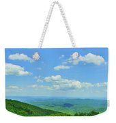 Scenic View Of Mountain Range, Blue Weekender Tote Bag