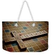 Scrabble Merry Christmas Weekender Tote Bag