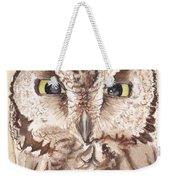 Screech Owl Weekender Tote Bag