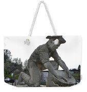 Scuplture Of Gold Rush Miner Claude Chana Weekender Tote Bag